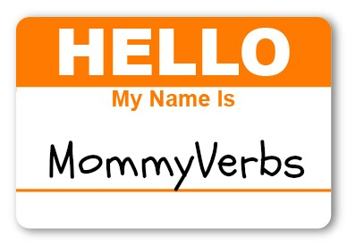 MommyVerbs nametag