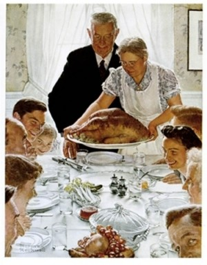 Norman Rockwell's Thanksgiving  Freedom From Want